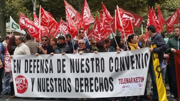 Los trabajadores de Contac Center demandan salarios dignos y contratos estables
