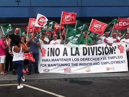 Rotundo éxito de las movilizaciones contra las licitaciones de hostelería de AENA