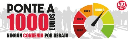 UGT promueve 1.000 euros de salario mínimo