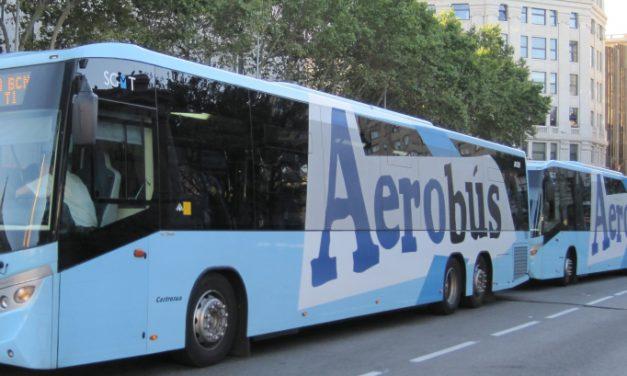 Convocados paros parciales en el servicio del aerobús  de Barcelona