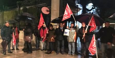 UGT se moviliza en defensa de los derechos laborales y salariales de los trabajadores de la Seguridad Privada en Granada