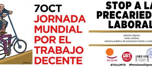 """Jornada Mundial por el Trabajo Decente: """"Stop a la precariedad laboral"""""""