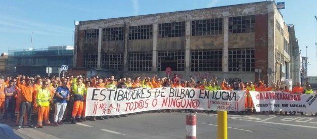 Huelga en la Estiba: Seguimiento del 100% en los puertos de Bilbao y Pasaia