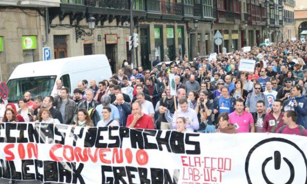 UGT no apoya la huelga y mantiene la plataforma mayoritaria en la mesa de negociación de Oficinas y Despachos de Bizkaia