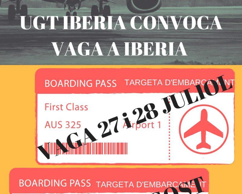 EL Comité de Centro de Iberia Barcelona mantiene la convocatoria de la huelga