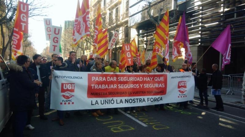 UGT sale a la calle ante el aumento de las agresiones contra vigilantes de seguridad y contra la pasividad de empresas y Administración