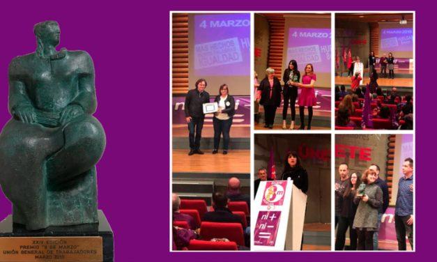 UGT entrega los galardones a los Premios 8 de marzo
