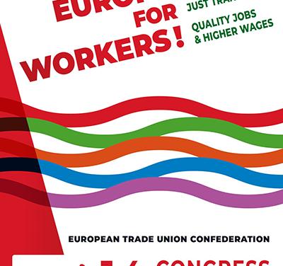 Una delegación de UGT participa en el 14 Congreso de la Confederación Europea de Sindicatos