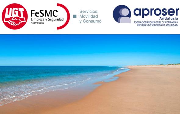 El sector de seguridad privada solicita que se reconsidere la decisión adoptada por la Junta de Andalucía para la vigilancia de las playas