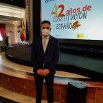 Manuel Maria Pazos Pérez,delegado del Comité de empresa de FeSMC UGT Andalucía en la empresa CIA. Logística Acotral S.A.U. galardonado con el XVI Premios Plaza de España.