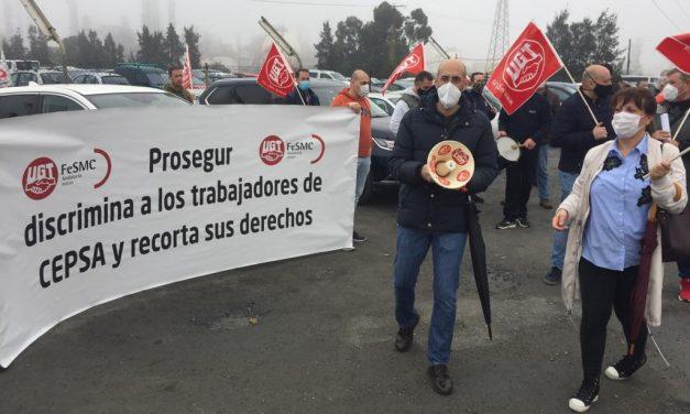 Nueva denuncia por incumplimientos de Prosegur en Refinería de La Rábida