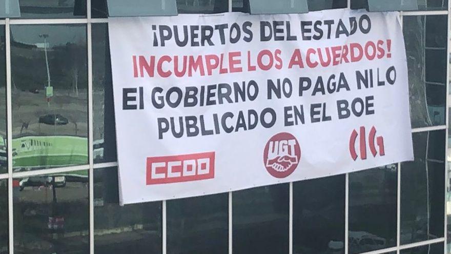 Los trabajadores y trabajadoras de Puertos del Estado y AAPP vuelven a la movilización