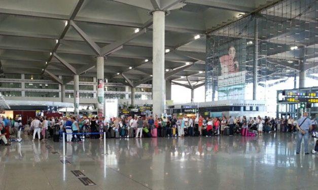Huelga de vigilantes de seguridad del aeropuerto de Málaga
