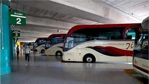 Concentración del sector de transporte de viajeros por carretera en Huesca